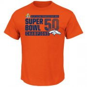 Wholesale Cheap Denver Broncos Majestic Super Bowl 50 Champions Winners Take VIII T-Shirt Orange