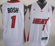Wholesale Cheap Miami Heat #1 Chris Bosh Revolution 30 Swingman White Jersey