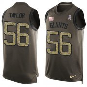 Wholesale Cheap Nike Giants #56 Lawrence Taylor Green Men's Stitched NFL Limited Salute To Service Tank Top Jersey