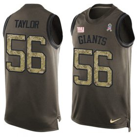 Wholesale Cheap Nike Giants #56 Lawrence Taylor Green Men\'s Stitched NFL Limited Salute To Service Tank Top Jersey