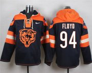 Wholesale Cheap Nike Bears #94 Leonard Floyd Navy Blue Player Pullover NFL Hoodie