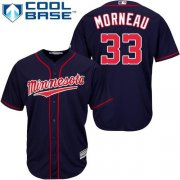 Wholesale Cheap Twins #33 Justin Morneau Stitched Navy Blue Cool Base Youth MLB Jersey