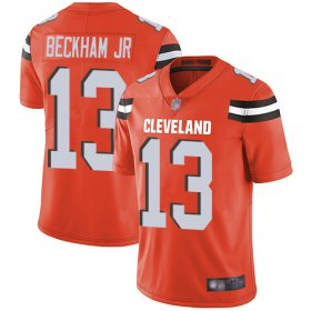 Wholesale Cheap Nike Browns #13 Odell Beckham Jr Orange Alternate Youth Stitched NFL Vapor Untouchable Limited Jersey
