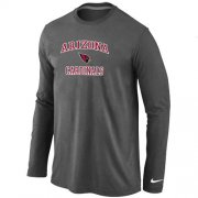 Wholesale Cheap Nike Arizona Cardinals Heart & Soul Long Sleeve T-Shirt Dark Grey