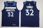 Wholesale Cheap Men's Minnesota Timberwolves #32 Karl-Anthony Towns New Navy Blue 2017-2018 Nike Swingman Stitched NBA Jersey