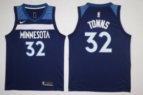 Wholesale Cheap Men\'s Minnesota Timberwolves #32 Karl-Anthony Towns New Navy Blue 2017-2018 Nike Swingman Stitched NBA Jersey