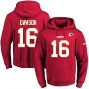 Wholesale Cheap Nike Chiefs #16 Len Dawson Red Name & Number Pullover NFL Hoodie