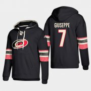 Wholesale Cheap Carolina Hurricanes #7 Phillip Di Giuseppe Black adidas Lace-Up Pullover Hoodie