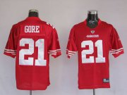 Wholesale Cheap 49ers Frank Gore #21 Stitched Red NFL Jersey