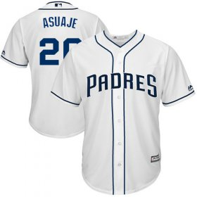 Wholesale Cheap Padres #20 Carlos Asuaje White New Cool Base Stitched MLB Jersey