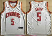 Wholesale Cheap Men's Cleveland Cavaliers #5 J.R. Smith White Stitched NBA Adidas Revolution 30 Swingman Jersey