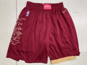 Wholesale Cheap Raptors Red City Edition Nike Swingman Shorts