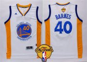 Wholesale Cheap Men's Golden State Warriors #40 Harrison Barnes White 2016 The NBA Finals Patch Jersey