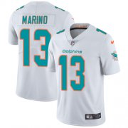 Wholesale Cheap Nike Dolphins #13 Dan Marino White Men's Stitched NFL Vapor Untouchable Limited Jersey