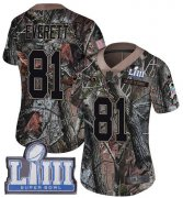 Wholesale Cheap Nike Rams #81 Gerald Everett Camo Super Bowl LIII Bound Women's Stitched NFL Limited Rush Realtree Jersey