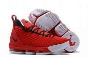 Wholesale Cheap Nike Lebron James 16 Air Cushion Shoes Red White Black-logo