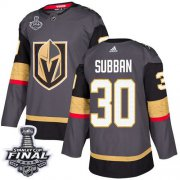 Wholesale Cheap Adidas Golden Knights #30 Malcolm Subban Grey Home Authentic 2018 Stanley Cup Final Stitched NHL Jersey