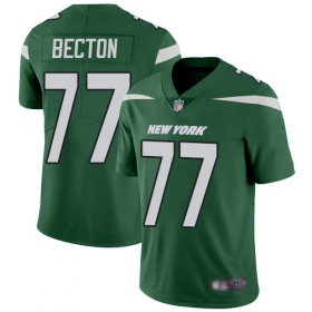 Wholesale Cheap Nike Jets #77 Mekhi Becton Green Team Color Youth Stitched NFL Vapor Untouchable Limited Jersey
