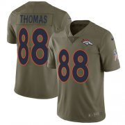 Wholesale Cheap Nike Broncos #88 Demaryius Thomas Olive Men's Stitched NFL Limited 2017 Salute to Service Jersey