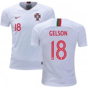 Wholesale Cheap Portugal #18 Gelson Away Kid Soccer Country Jersey