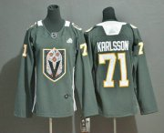 Wholesale Cheap Youth Vegas Golden Knights #71 William Karlsson Gray Dia De Los Muertos Adidas Jersey
