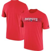 Wholesale Cheap New England Patriots Nike Sideline Seismic Legend Performance T-Shirt Red