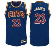 Wholesale Cheap Cleveland Cavaliers #23 LeBron James Navy Blue Swingman Jersey