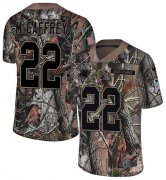 Wholesale Cheap Nike Panthers #22 Christian McCaffrey Camo Youth Stitched NFL Limited Rush Realtree Jersey