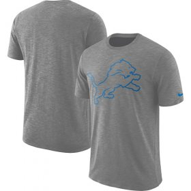 Wholesale Cheap Men\'s Detroit Lions Nike Heathered Gray Sideline Cotton Slub Performance T-Shirt