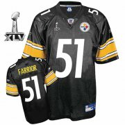 Wholesale Cheap Steelers #51 James Farrior Black Super Bowl XLV Stitched NFL Jersey