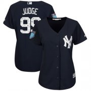 Wholesale Cheap Yankees #99 Aaron Judge Navy Blue 2018 Spring Training Cool Base Women's Stitched MLB Jersey