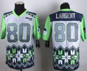 Wholesale Cheap Nike Seahawks #80 Steve Largent Grey Men's Stitched NFL Elite Noble Fashion Jersey