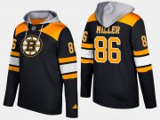 Wholesale Cheap Bruins #86 Kevan Miller Black Name And Number Hoodie