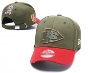Wholesale Cheap NFL Kansas City Chiefs Team Logo Olive Peaked Adjustable Hat SG101