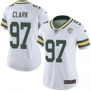 Wholesale Cheap Nike Packers #97 Kenny Clark White Women's 100th Season Stitched NFL Vapor Untouchable Limited Jersey
