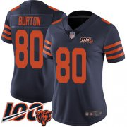 Wholesale Cheap Nike Bears #80 Trey Burton Navy Blue Alternate Women's Stitched NFL 100th Season Vapor Limited Jersey