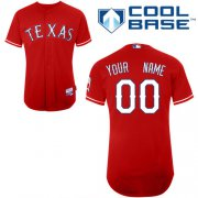 Wholesale Cheap Rangers Customized Authentic Red Cool Base MLB Jersey (S-3XL)