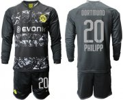 Wholesale Cheap Dortmund #20 Philipp Away Long Sleeves Soccer Club Jersey