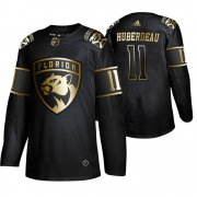 Wholesale Cheap Adidas Panthers #11 Jonathan Huberdeau Men's 2019 Black Golden Edition Authentic Stitched NHL Jersey