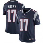 Wholesale Cheap Nike Patriots #17 Antonio Brown Navy Blue Team Color Men's Stitched NFL Vapor Untouchable Limited Jersey