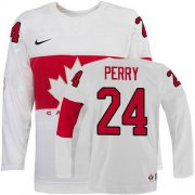 Wholesale Cheap Olympic 2014 CA. #24 Corey Perry White Stitched NHL Jersey