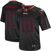 Wholesale Cheap Nike 49ers #10 Jimmy Garoppolo Lights Out Black Men's Stitched NFL Elite Jersey