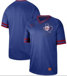 Wholesale Cheap Nike Rangers Blank Royal Authentic Cooperstown Collection Stitched MLB Jersey