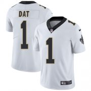 Wholesale Cheap Nike Saints #1 Who Dat White Men's Stitched NFL Vapor Untouchable Limited Jersey