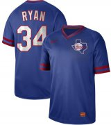 Wholesale Cheap Nike Rangers #34 Nolan Ryan Royal Authentic Cooperstown Collection Stitched MLB Jersey