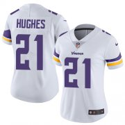 Wholesale Cheap Nike Vikings #21 Mike Hughes White Women's Stitched NFL Vapor Untouchable Limited Jersey