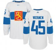 Wholesale Cheap Team Finland #45 Sami Vatanen White 2016 World Cup Stitched NHL Jersey
