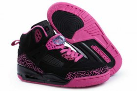 Wholesale Cheap Womens Jordan 3.5 Spizike Shoes Black/Purple
