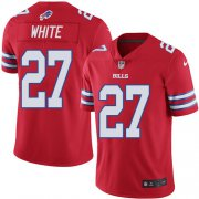 Wholesale Cheap Nike Bills #27 Tre'Davious White Red Youth Stitched NFL Limited Rush Jersey