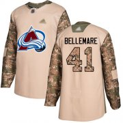 Wholesale Cheap Adidas Avalanche #41 Pierre-Edouard Bellemare Camo Authentic 2017 Veterans Day Stitched Youth NHL Jersey